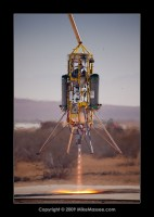 Masten Space VTVL tether test