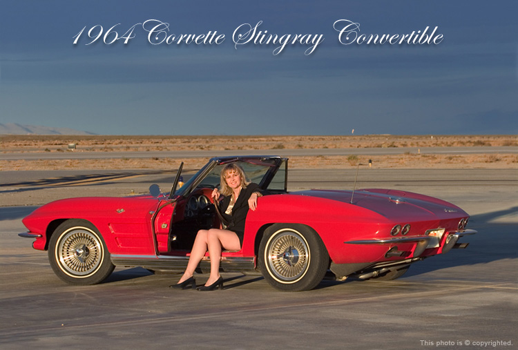 Marie and her 1964 Corvette Stingray