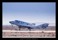 SpaceShipTwo first powered flight