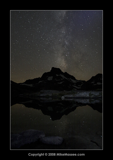 Milky way and relfection above Banner Peak